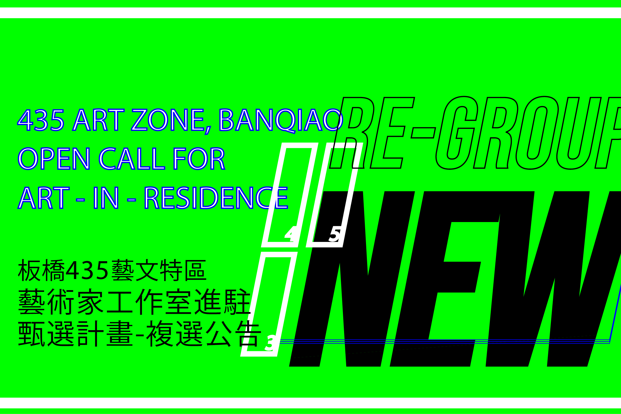 Notification of Second Review Meeting-2020 Open call for Art - in - Residence, Banqiao 435 Art Zone