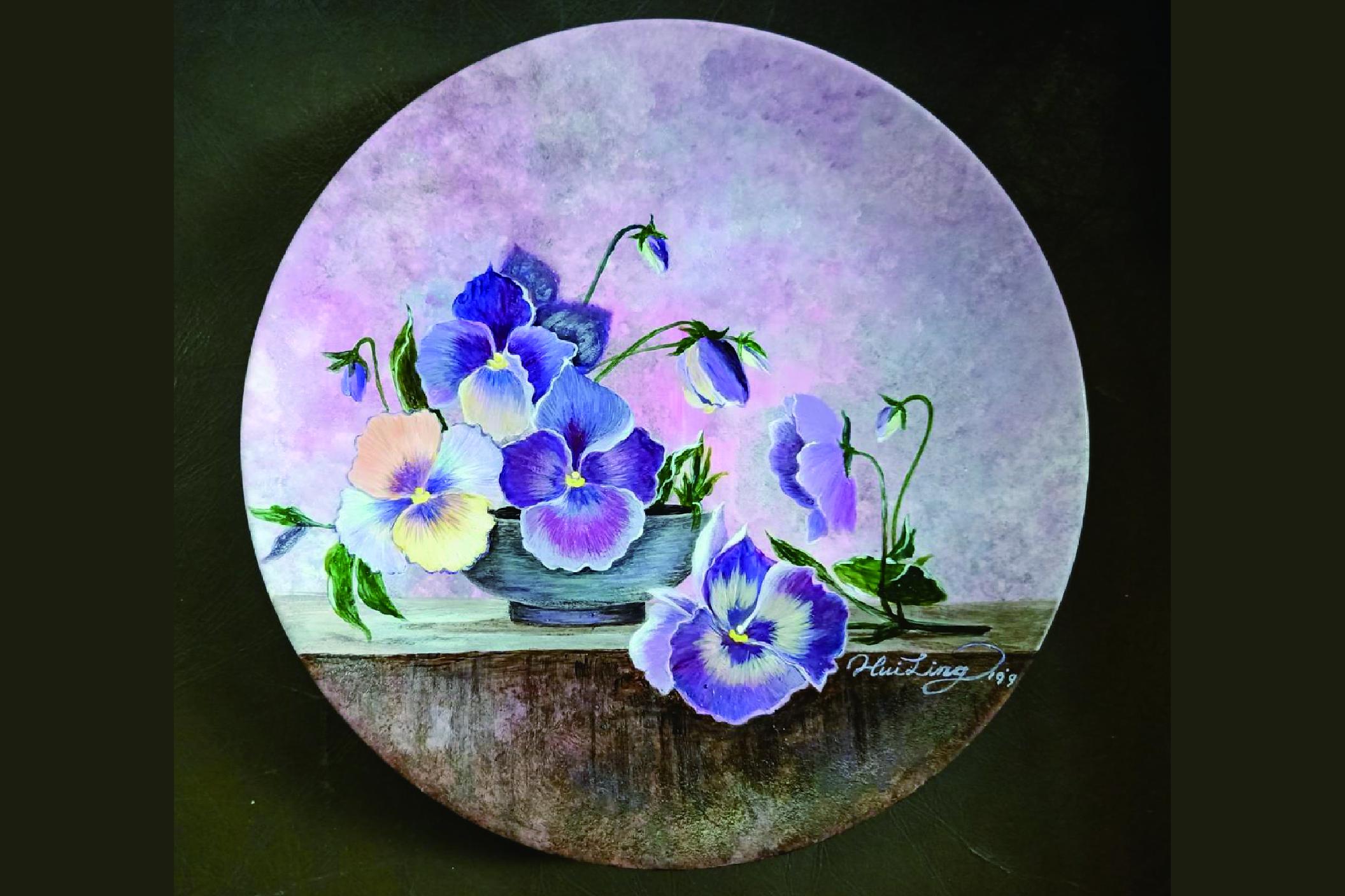 押花展-植樸之美;低溫釉上瓷畫-釉上瓷顏