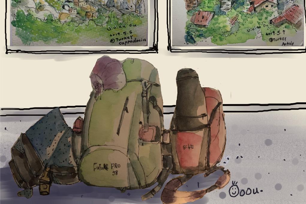繪旅行—歐OU的旅行繪畫個展
